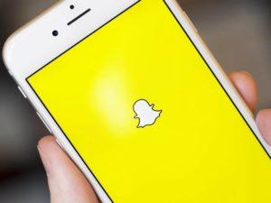 Imagem da interface do aplicativo Snapchat
