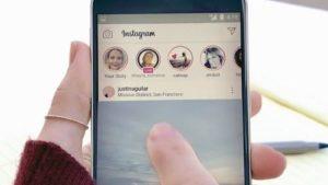 Imagem da interface do aplicativo Instagram