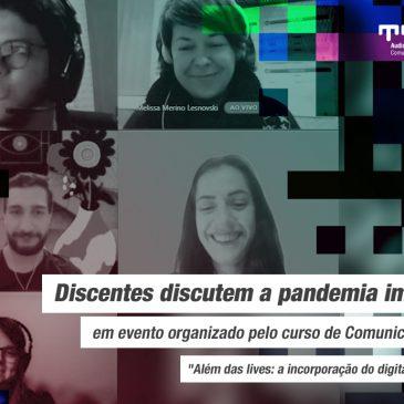 Discentes discutem a pandemia imagética em evento organizado pelo curso de Comunicação Digital