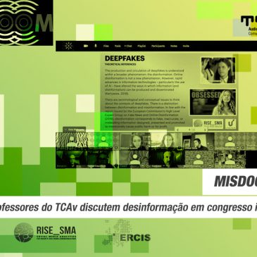 Professores do TCAv discutem desinformação em congresso internacional