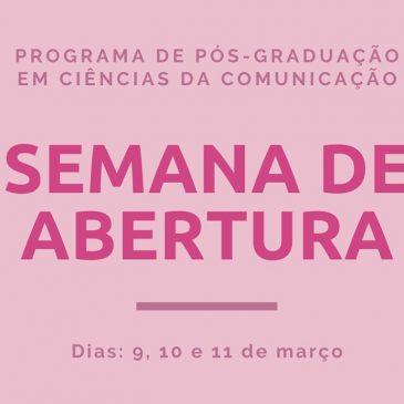 Semana de Abertura do Semestre 2021/1 do PPG em Comunicação
